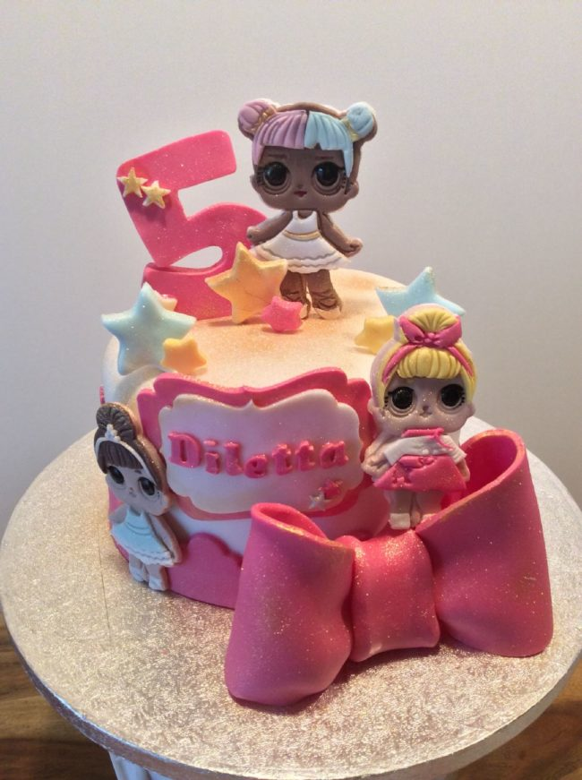 cake design lol surprise 2d claudia crea firenze