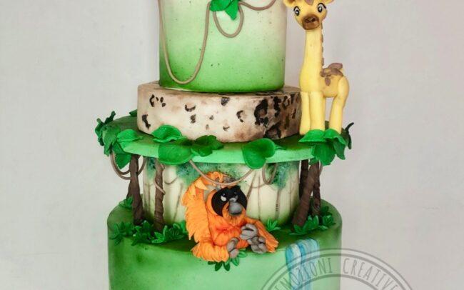 torta-giungla-cakedesign-claudiacrea-firenze