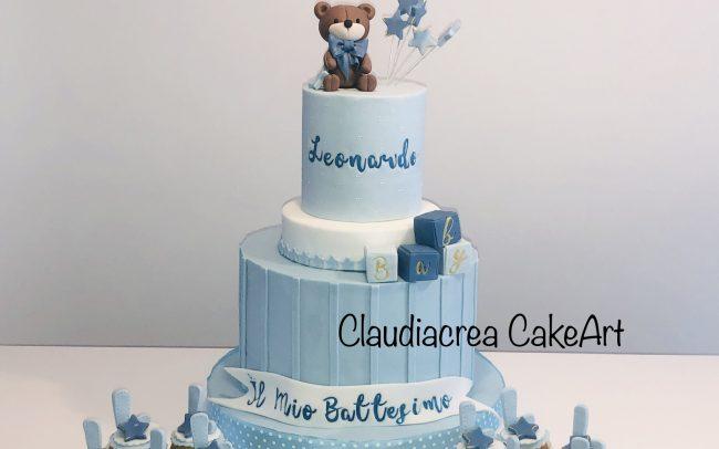 torta-decorata-battesimo-orsetto-claudiacrea-firenze